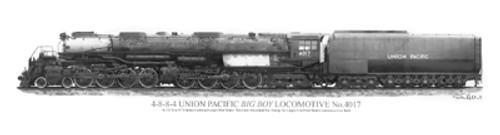"Union Pacific ""Big Boy"" Print"