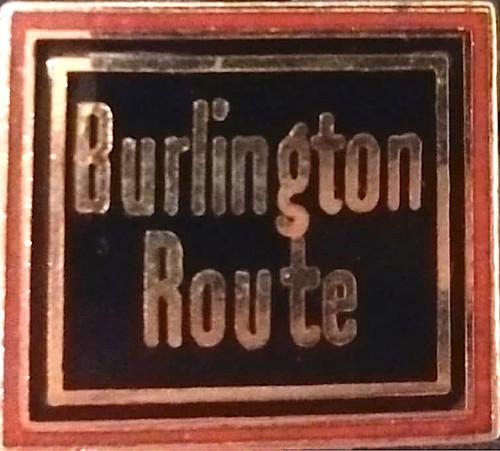 Burlington Route Pin