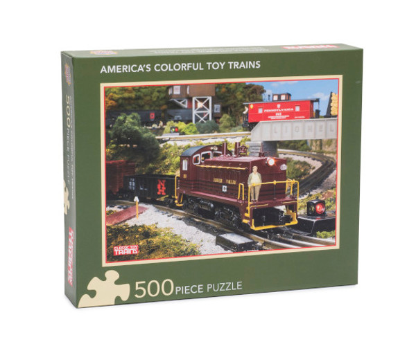 America's Colorful Toy Trains 500-piece puzzle