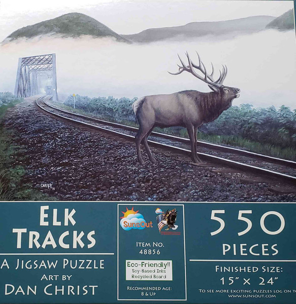 Elk Tracks 550 Piece Jigsaw Puzzle