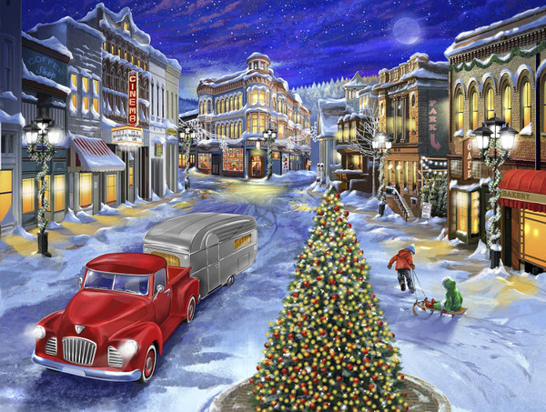 A Drive Down Main Street 500 piece puzzle