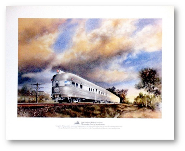 Chicago, Burlington & Quincy (CB&Q) Silver Spirit Print by Steve Krueger