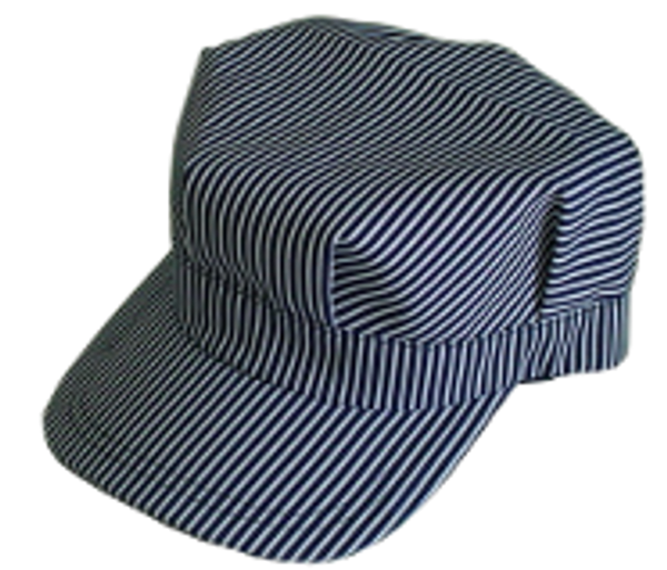 Engineer Hat - Dark Blue Stripe