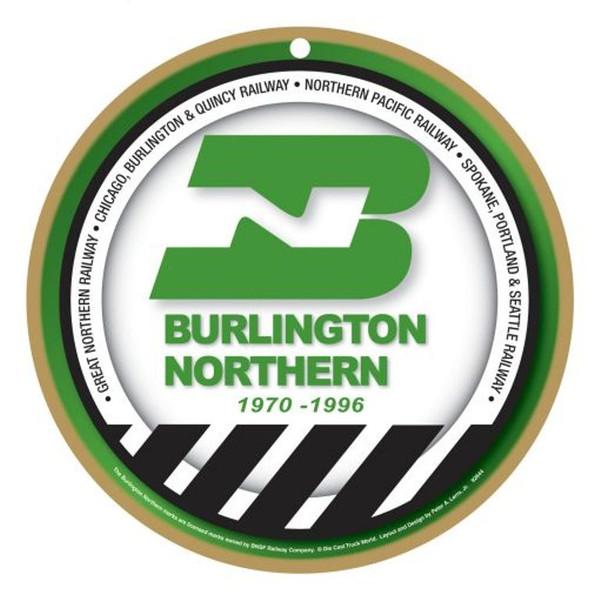 Burlington Northern Wooden Plaque