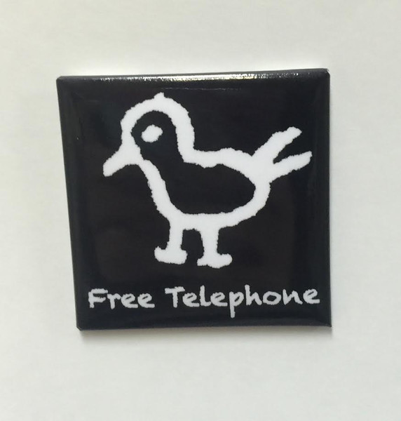 "Hobo Symbol Magnet: ""Free Telephone"""