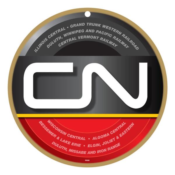 CN Canadian National modern logo wooden plaque sign.