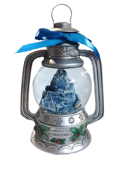 The Polar Express™ Lantern Snow Globe - Mountain