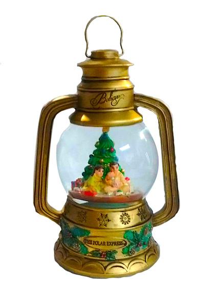 The Polar Express™ Lantern Snow Globe - Christmas Tree