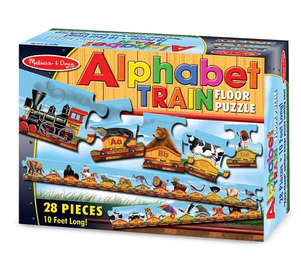 Melissa & Doug® Alphabet Train Jumbo Jigsaw Floor Puzzle - Letters and Animals (28 pieces, 10 feet long)