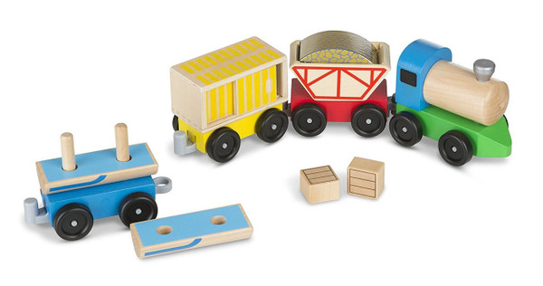 Melissa & Doug® Cargo Train - Classic Wooden Toy