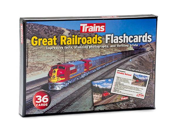Trains® Great Railroads Flashcards