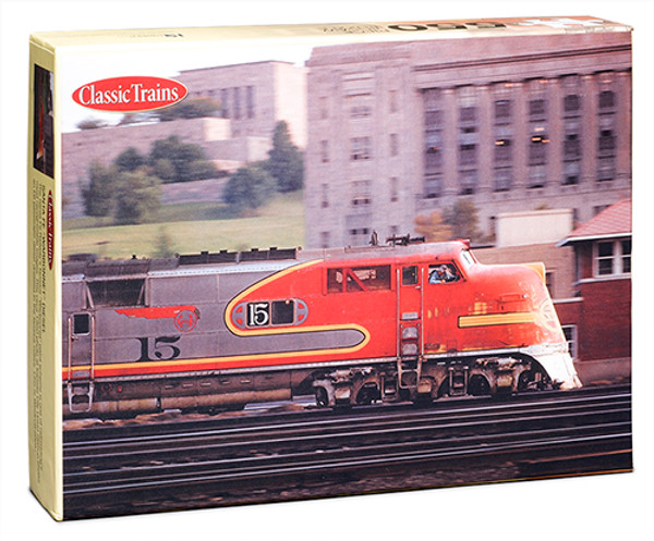"""Classic Trains® Santa Fe """"Warbonnet"""" Diesel 550-Piece Puzzle"""