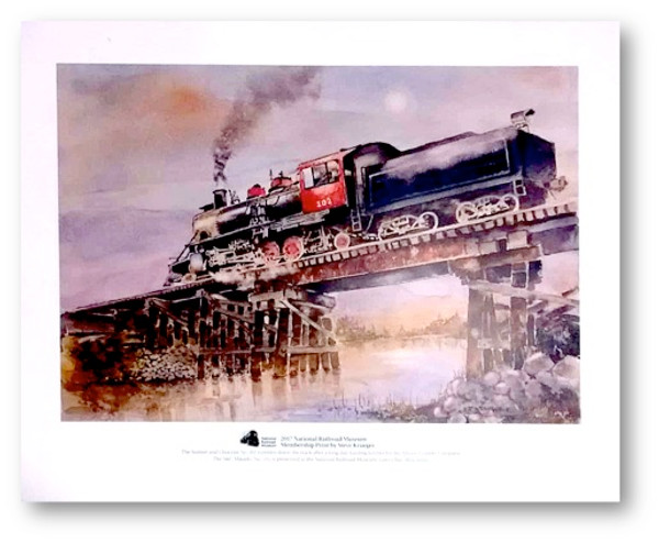 National Railroad Museum® - Sumter and Coctaw No. 102 Print by Steve Krueger