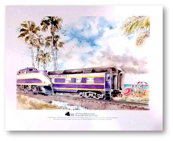 National Railroad Museum® - Atlantic Coast Line Dothan Dining Car Print by Steve Krueger