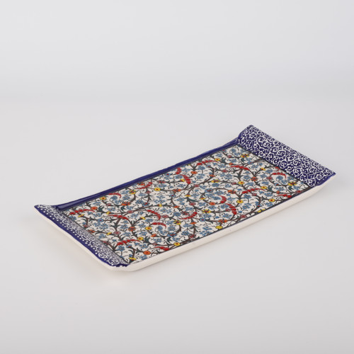 Halic II Ceramic Tray / Serving Platter - 13.4""