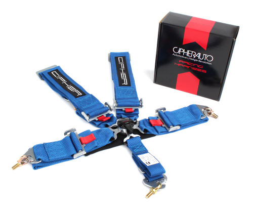 Cipher Blue 5 Point 3 Inches Camlock Racing Harness - SFI 16.1
