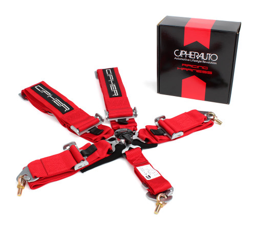 Cipher Red 5 Point 3 Inches Camlock Racing Harness - SFI 16.1