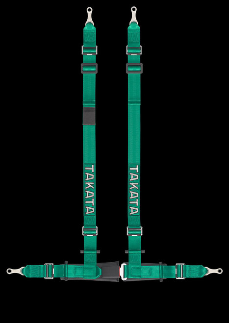 "Street Oriented 4 point harness 2"" Shoulders, 2"" Lap belts Street Legal Bolt-in hardware Available in Green or Black"