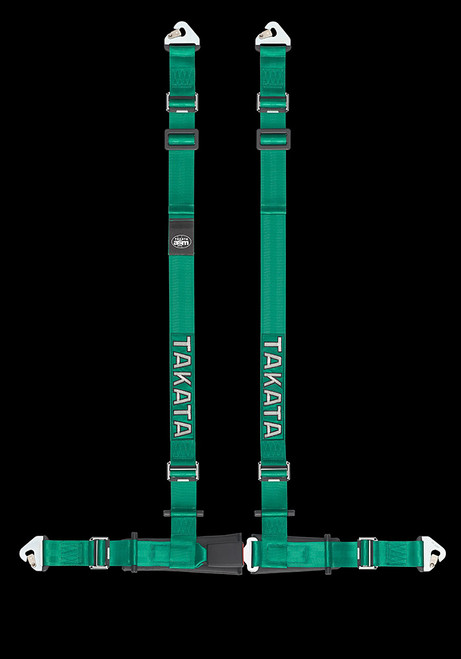 "Street Oriented 4 point harness 2"" Shoulders, 2"" Lap belts with Pull-up adjusters Street Legal Snap-on hardware Available in Green or Black"