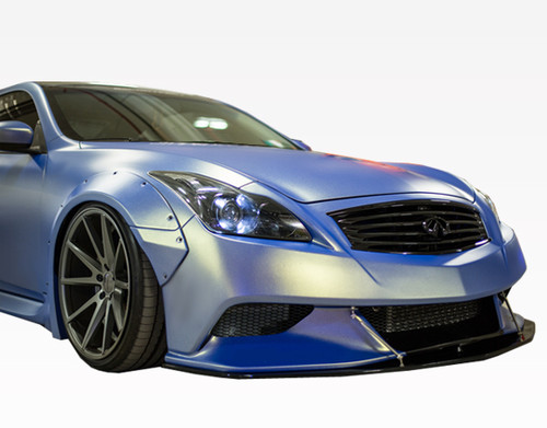 2008-2013 Infiniti G37 2Dr Walker Front Bumper. All Vis fiberglass Body Kits; bumpers, Lips side skirts, spoilers, and hoods are made out of a high quality fiberglass. All Body Kits come with wire mesh if applicable. Professional installation required. Picture shown is for illustration purpose only. Actual product may vary due to product enhancement. Modification of part is required to ensure proper fitment. Test fit all Body Kit parts before any modification or painting. Accessories like fog lights, driving lights, splitter, canards, add-on lip, intake scoops, or other enhancement products are not included unless specified in the product description. Intended for OFF ROAD use only.