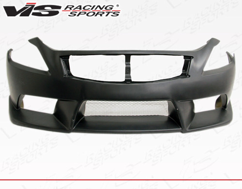 2008-2013 Infiniti G37 2Dr NSM Front Bumper. All Vis fiberglass Body Kits; bumpers, Lips side skirts, spoilers, and hoods are made out of a high quality fiberglass. All Body Kits come with wire mesh if applicable. Professional installation required. Picture shown is for illustration purpose only. Actual product may vary due to product enhancement. Modification of part is required to ensure proper fitment. Test fit all Body Kit parts before any modification or painting. Accessories like fog lights, driving lights, splitter, canards, add-on lip, intake scoops, or other enhancement products are not included unless specified in the product description. Intended for OFF ROAD use only.