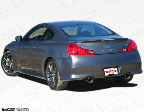 2008-2013 Infiniti G37 2dr IPL Style Rear Bumper. All Vis fiberglass Body Kits; bumpers, Lips side skirts, spoilers, and hoods are made out of a high quality fiberglass. All Body Kits come with wire mesh if applicable. Professional installation required. Picture shown is for illustration purpose only. Actual product may vary due to product enhancement. Modification of part is required to ensure proper fitment. Test fit all Body Kit parts before any modification or painting. Accessories like fog lights, driving lights, splitter, canards, add-on lip, intake scoops, or other enhancement products are not included unless specified in the product description. Intended for OFF ROAD use only.