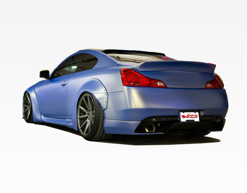 2008-2013 Infiniti G37 2Dr Walker Side Skirt. All Vis fiberglass Body Kits; bumpers, Lips side skirts, spoilers, and hoods are made out of a high quality fiberglass. All Body Kits come with wire mesh if applicable. Professional installation required. Picture shown is for illustration purpose only. Actual product may vary due to product enhancement. Modification of part is required to ensure proper fitment. Test fit all Body Kit parts before any modification or painting. Accessories like fog lights, driving lights, splitter, canards, add-on lip, intake scoops, or other enhancement products are not included unless specified in the product description. Intended for OFF ROAD use only.