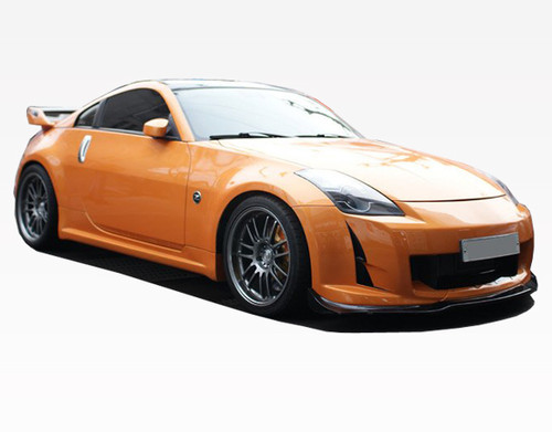 2003-2008 Nissan 350Z 2dr Ams Front Bumper. All Vis fiberglass Body Kits; bumpers, Lips side skirts, spoilers, and hoods are made out of a high quality fiberglass. All Body Kits come with wire mesh if applicable. Professional installation required. Picture shown is for illustration purpose only. Actual product may vary due to product enhancement. Modification of part is required to ensure proper fitment. Test fit all Body Kit parts before any modification or painting. Accessories like fog lights, driving lights, splitter, canards, add-on lip, intake scoops, or other enhancement products are not included unless specified in the product description. Intended for OFF ROAD use only.