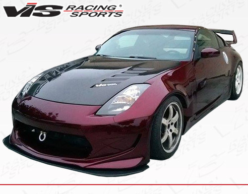2003-2008 Nissan 350Z 2dr AMS GT Front Bumper. All Vis fiberglass Body Kits; bumpers, Lips side skirts, spoilers, and hoods are made out of a high quality fiberglass. All Body Kits come with wire mesh if applicable. Professional installation required. Picture shown is for illustration purpose only. Actual product may vary due to product enhancement. Modification of part is required to ensure proper fitment. Test fit all Body Kit parts before any modification or painting. Accessories like fog lights, driving lights, splitter, canards, add-on lip, intake scoops, or other enhancement products are not included unless specified in the product description. Intended for OFF ROAD use only.