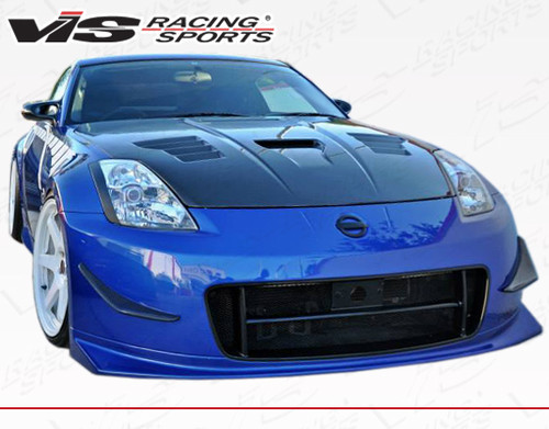 2003-2008 Nissan 350Z 2dr Techno R 2 Front Bumper. All Vis fiberglass Body Kits; bumpers, Lips side skirts, spoilers, and hoods are made out of a high quality fiberglass. All Body Kits come with wire mesh if applicable. Professional installation required. Picture shown is for illustration purpose only. Actual product may vary due to product enhancement. Modification of part is required to ensure proper fitment. Test fit all Body Kit parts before any modification or painting. Accessories like fog lights, driving lights, splitter, canards, add-on lip, intake scoops, or other enhancement products are not included unless specified in the product description. Intended for OFF ROAD use only.