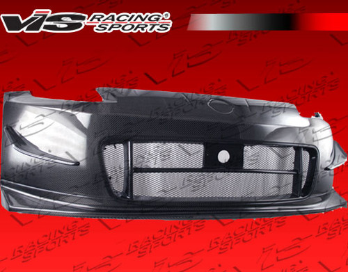 2003-2008 Nissan 350Z 2Dr Techno R 2 Front Bumper W/Carbon Lip. ViS Carbon Fiber Hoods are made from the finest carbon fiber available. Each hood is protected with a UV coating which allows the hood to hold its high gloss finish. All our carbon fiber hoods are Grade A and above. ViS Carbon Fiber Hoods have a tight carbon weave, rolled edges, and one piece undersiding. Make sure when purchasing a ViS hood, look for the ViS Authenticity Badge.  Hood pins are required. Intended for OFF ROAD use only.