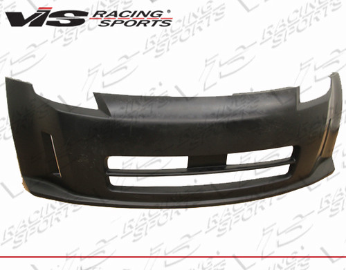 2003-2008 Nissan 350Z 2dr Techno R Front Bumper Polyurethane. All Vis fiberglass Body Kits; bumpers, Lips side skirts, spoilers, and hoods are made out of a high quality fiberglass. All Body Kits come with wire mesh if applicable. Professional installation required. Picture shown is for illustration purpose only. Actual product may vary due to product enhancement. Modification of part is required to ensure proper fitment. Test fit all Body Kit parts before any modification or painting. Accessories like fog lights, driving lights, splitter, canards, add-on lip, intake scoops, or other enhancement products are not included unless specified in the product description. Intended for OFF ROAD use only.