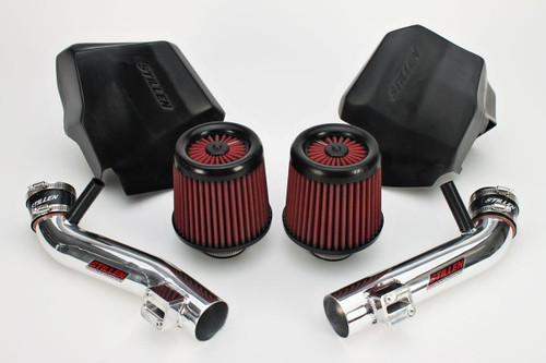 Infiniti EX35, G35, G37, Q40, Q60 Generation 2 Long Tube Dual Intake Kit With Dry Filter