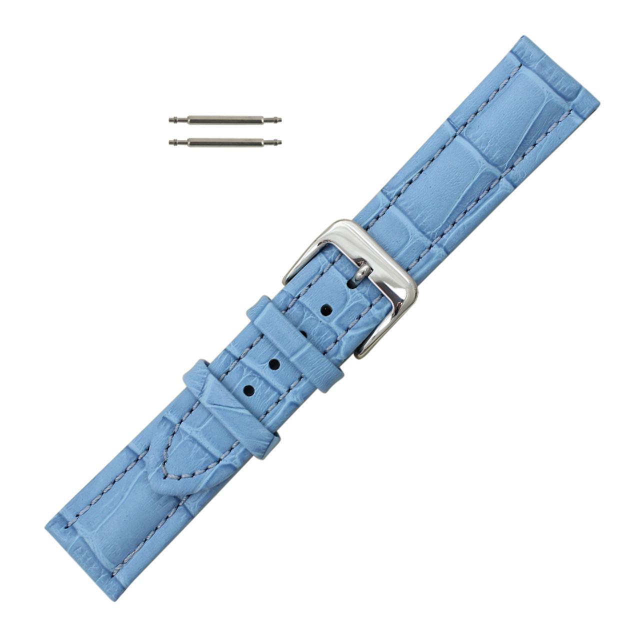 2fd65decf 20mm Light Blue Leather Watch Band - Watch Straps | Esslinger Watchbands