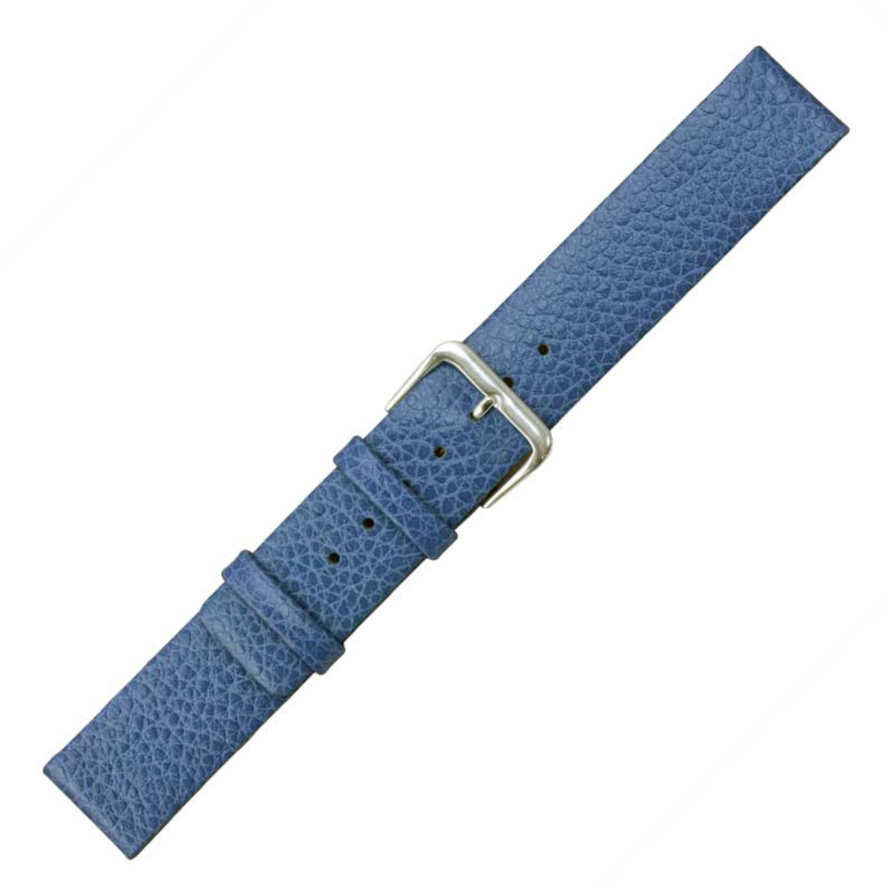 e38d88a8cb440 18mm Blue Calf Leather Watch Band 7 7 16 Inch Length