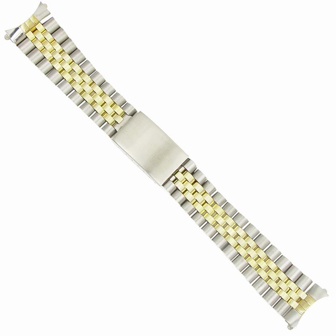 Generic 20mm Rolex® Bracelets Gents Jubilee® Stainless Two Tone Watch Band  6 1/8 Inch length
