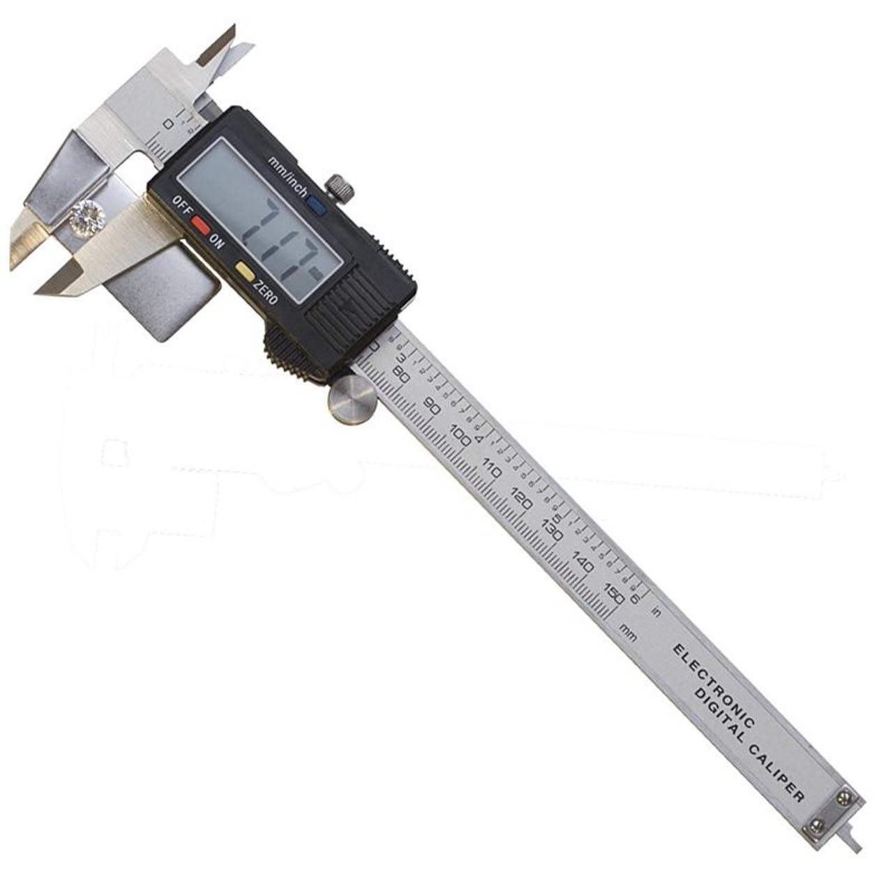 "150mm 6/"" Digital Electronic Stainless Steel Vernier Caliper Gauge Micrometer CLP"