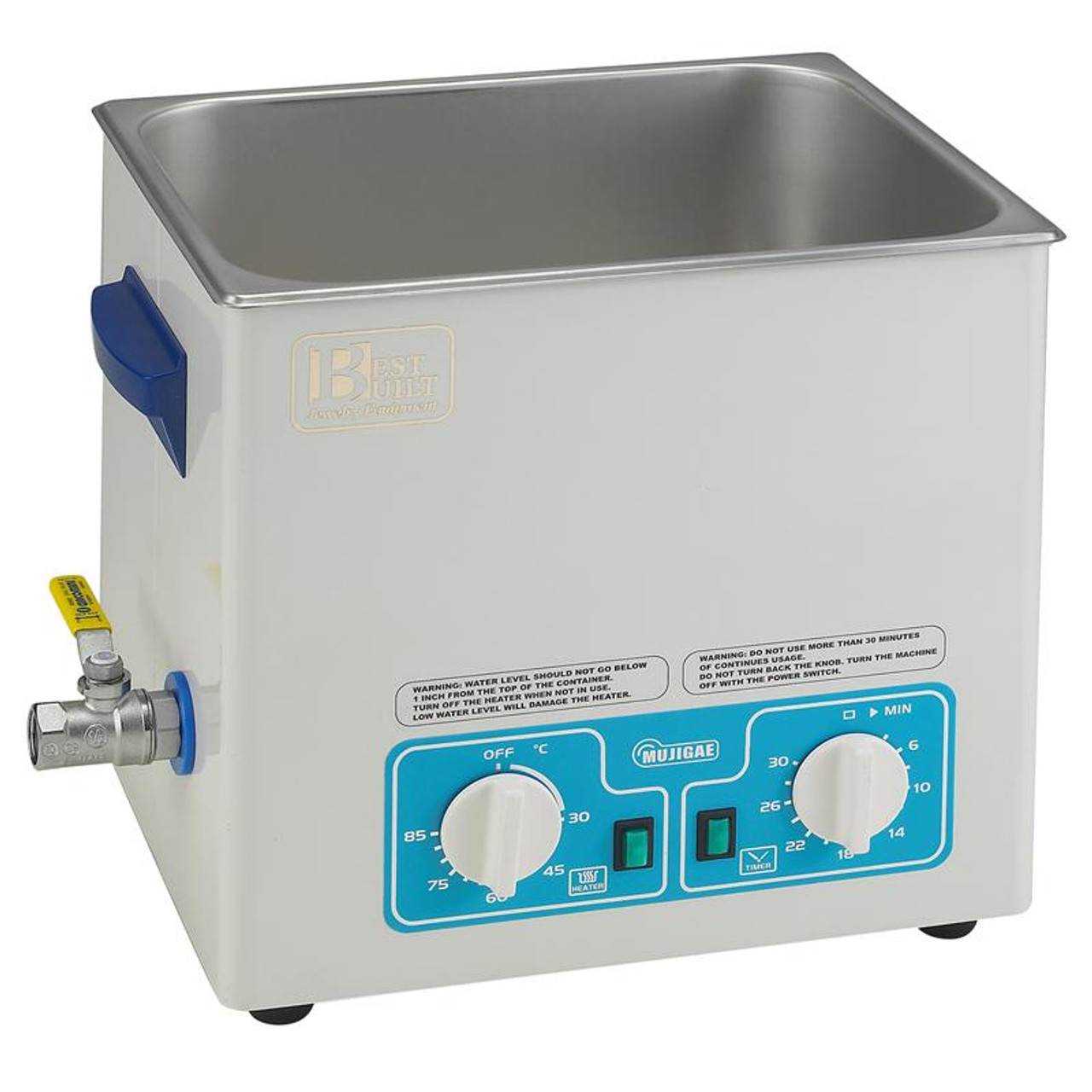 Best Built 2 6 Gallon Ultrasonic Jewelry And Watch Parts Cleaner 10 5 Qt 10 Liter With Heater Timer Drain