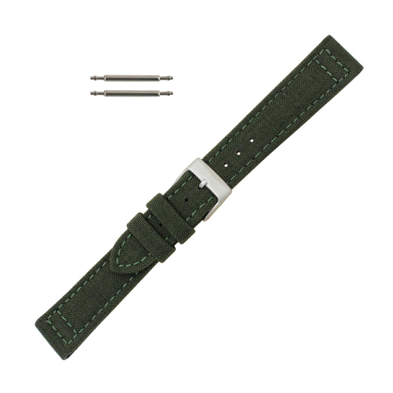 de23e76cb94 Hadley Roma Genuine Cordura® Watch Strap 18mm Military Green