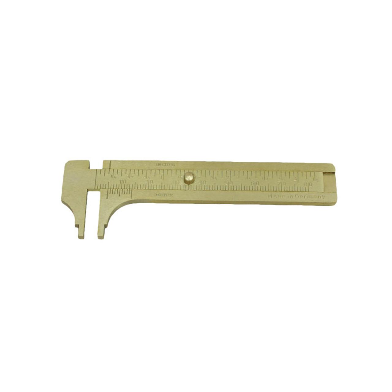 0-80mm 3-inch Brass Mini Sliding Gauge Pocket Vernier Caliper Measure Tool