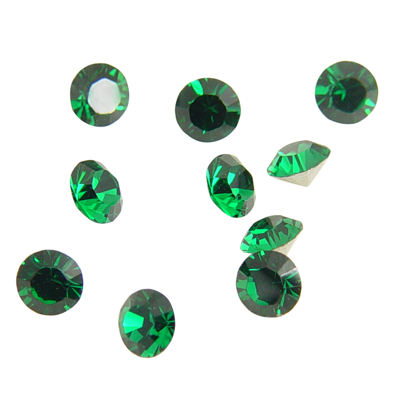 8e81903ad Loose Swarovski Crystals Green Faceted Round
