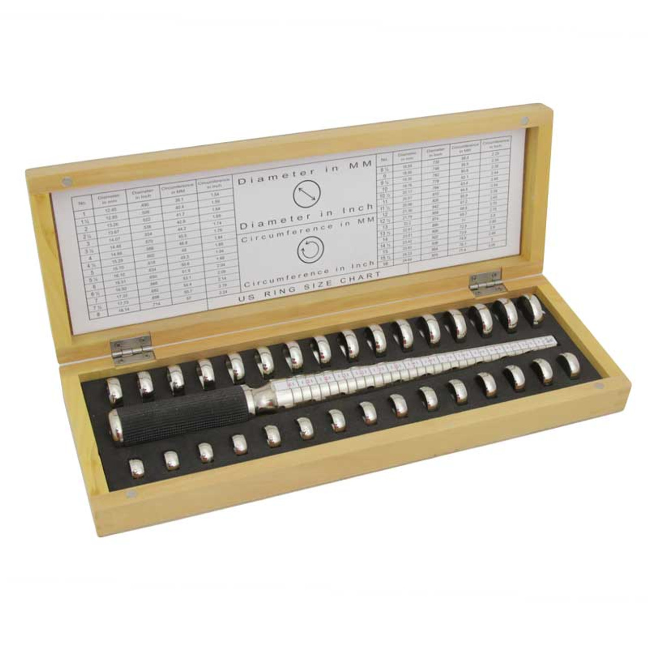 Deluxe Ring Gauge Kit with Mandrel