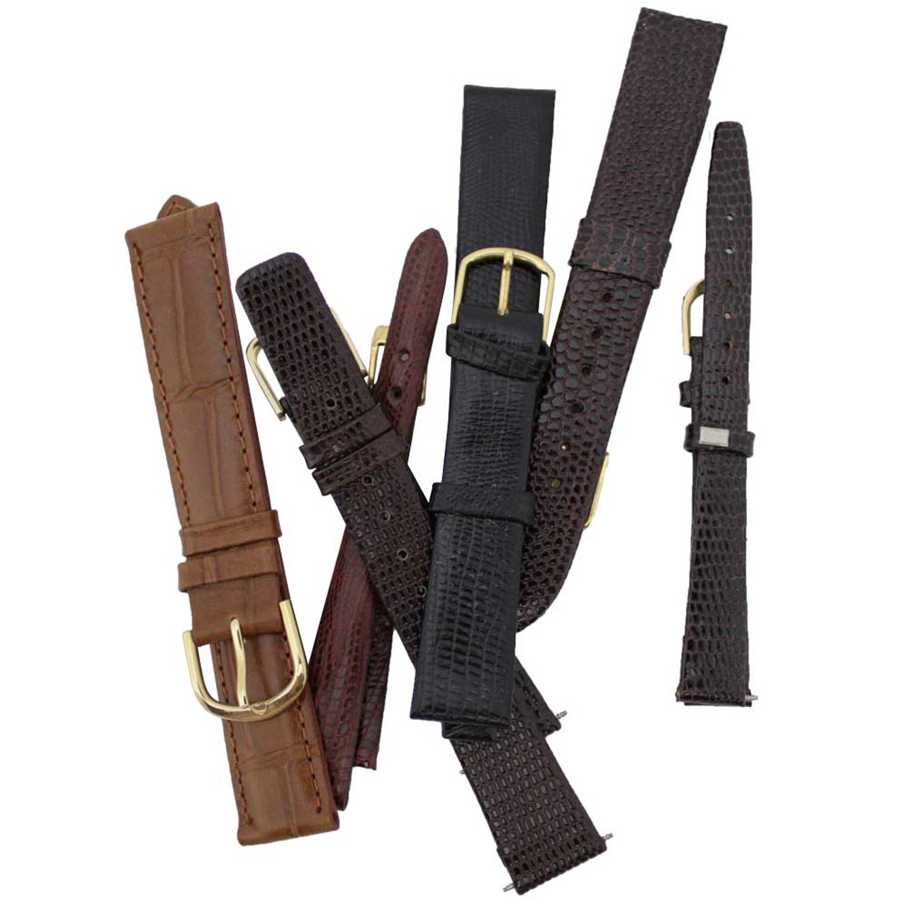 f4d674b7747 Leather Watch Strap Replacement Assortment Includes Mens and Ladies  watchbands