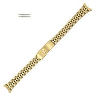 83ef890618a3de Metal Watch Band 13 to 14mm Yellow Gold Tone Classic Curved End 6 3/4