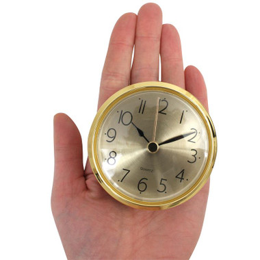 Clock Movement Bezel Insert 2 13/16 inch Gold Bezel with Gold Dial - Roman  or Arabic Numerals