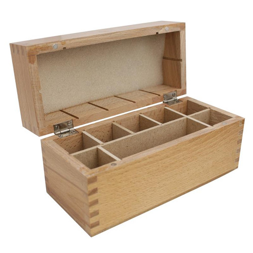 Wooden Storage Box 8 Compartments For Gold Testing Acid And Stone Test Kit