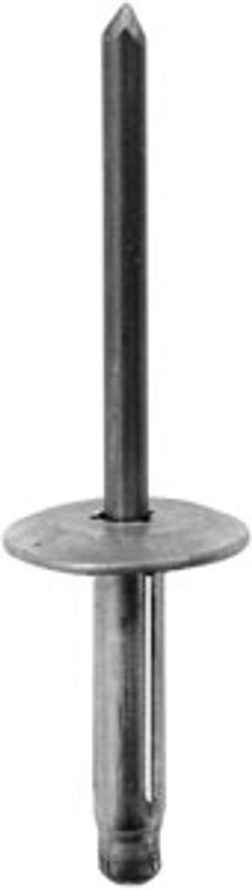 """Bumper Fasica & General Purpose 3/16"""" (4.8mm) Diameter Grip: 3/64' - 23/64"""" (1mm - 9mm) Flange Diameter: 5/8"""" (16mm) Aluminum Rivet, Aluminum Mandrel Bumper Fasica & General Purpose GM 1987 - On Honda Civic 2016 - On GM OEM# 22638717; Honda OEM# 90671-SDA-A01 25 Per Box"""