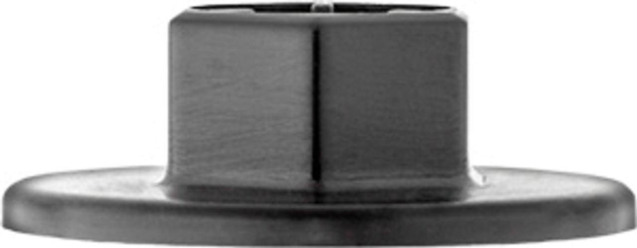 Wheel Well Liner & Splash Shield Nylon Nut Hex Size: 14mm Flange Diameter: 30mm Black Nylon Overall Height: 10mm Hyundai Accent, Elantra, Equus, Genesis, Genesis Coupe, Genesis G90, Santa Fe, Sonata, Tucson, Veloster & Veracruz 2000 - On Hyundai OEM# 84145-26000 15 Per Box