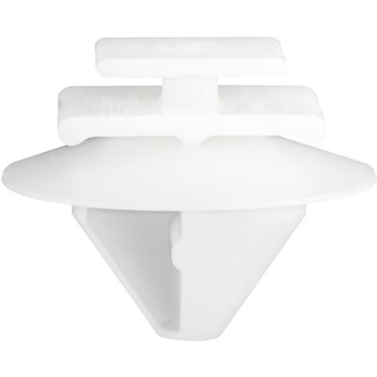 Jeep Renegade 2015 - 2017 Description : Body Side Moulding Clip Material : Nylon Color : White Type : Moulding Clip Stem Diameter : 7mm x 12mm Stem Length : 10mm Top Head Size : 8mm x 10mm Middle Head Diameter : 10mm x 14mm Bottom Head Diameter : 20mm Hole Size : 9mm Chrysler OEM: 68241251AA Pcs/Unit: 10 Per Box Country: DE Catalog Page #: HNI-476