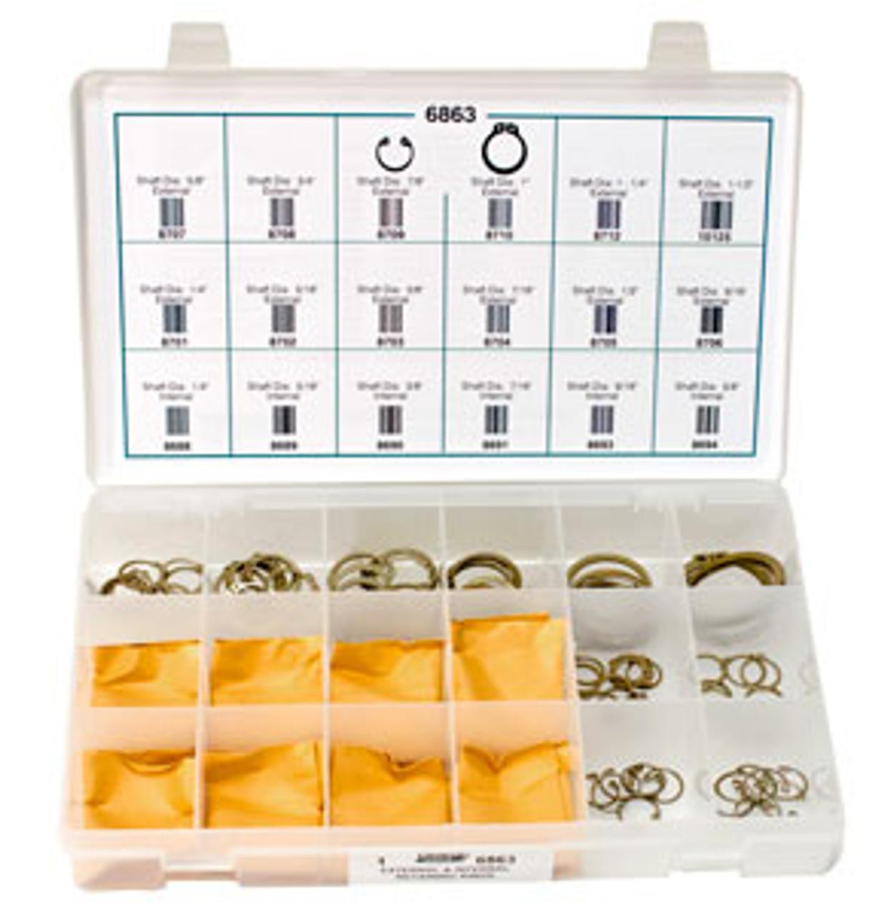 6863 External Internal Retaining Rings Quick Select Kit
